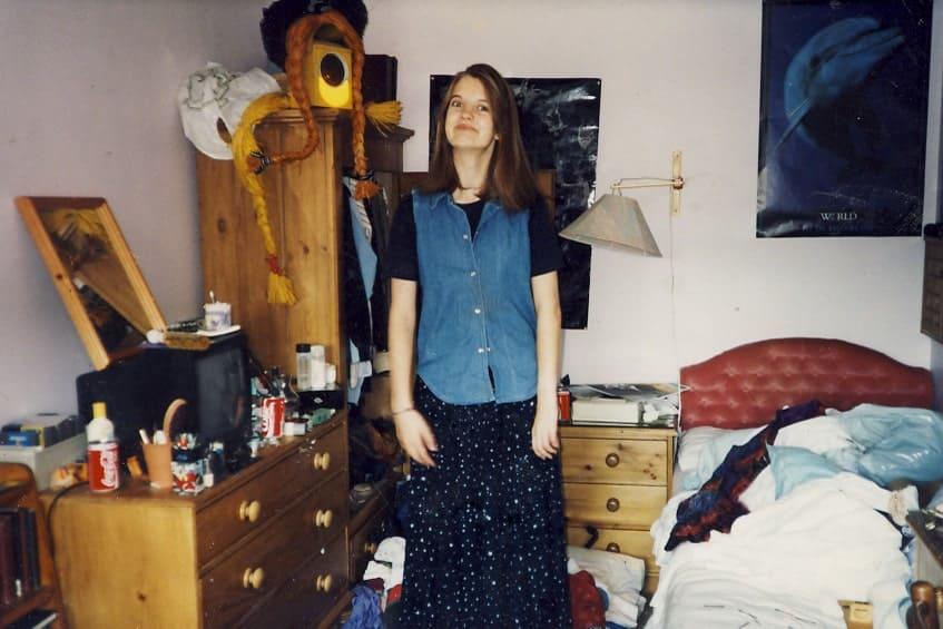 Untidy teenage bedroom