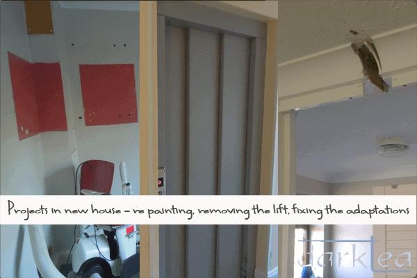 house projects - repaint, remove lift, fix adaptations