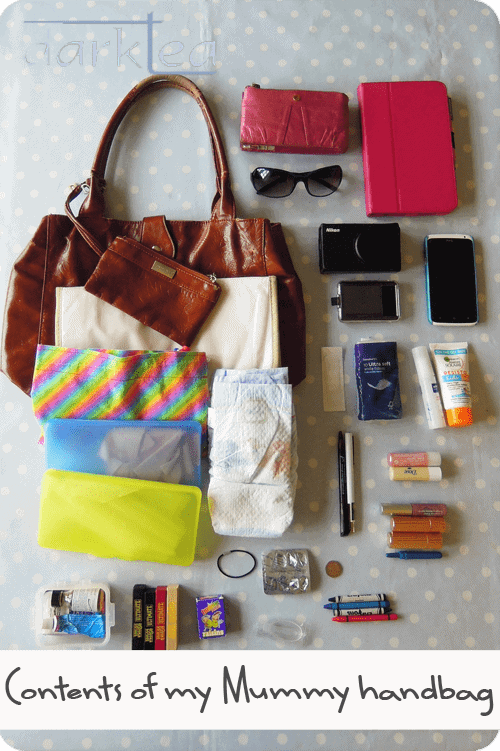 A variety of items on a table - what is in your mummy bag