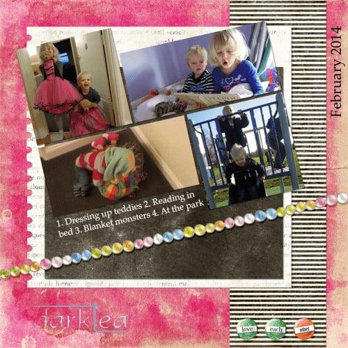 Siblings scrap layout February 2014 - darktea