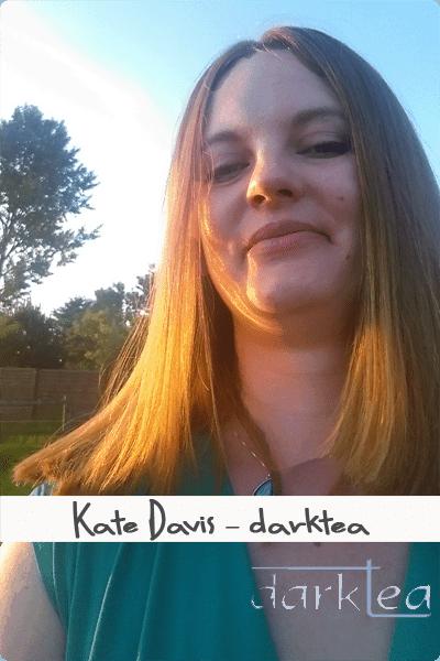 A close up of a woman Kate Davis darktea