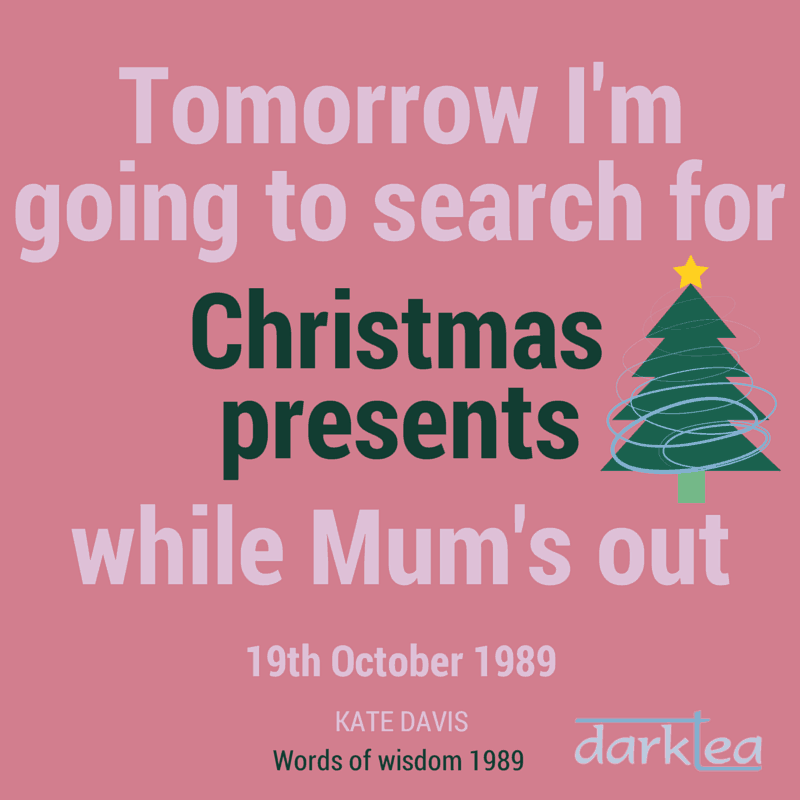 Tomorrow I'm going to search for Christmas presents