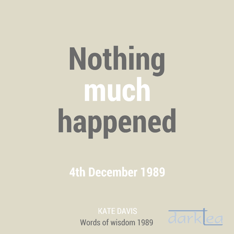 Nothing much happened