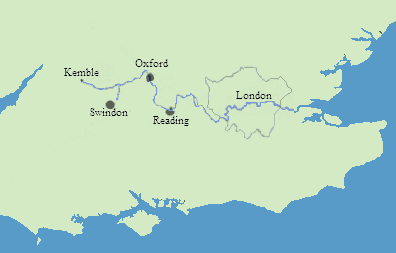Map of the Thames Valley