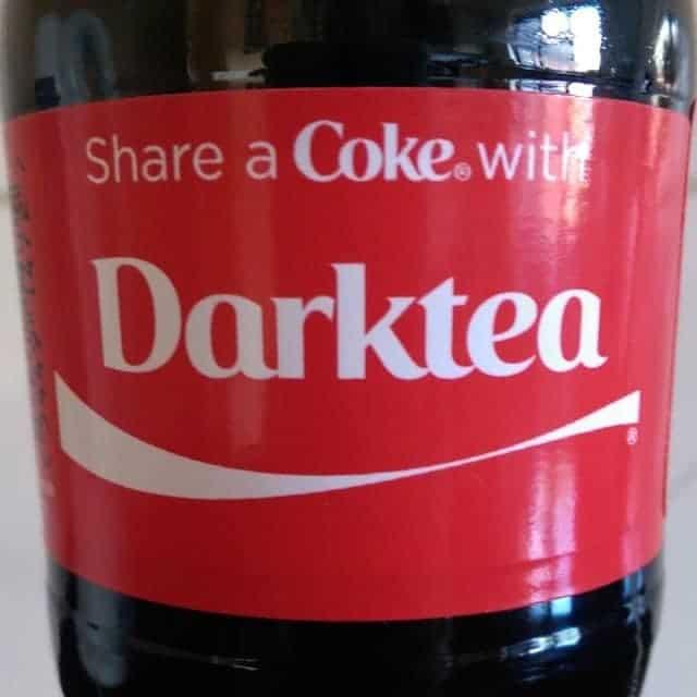 Personalised coca cola darktea