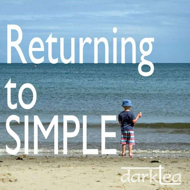 Returning to simple