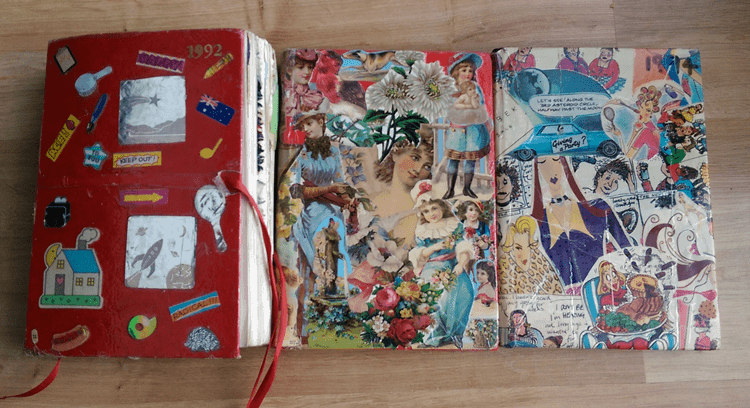 decorated page a day diary