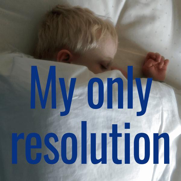 my one resolution