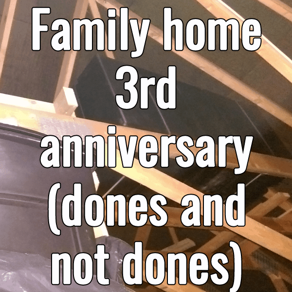 3rd home anniversary dones and not dones