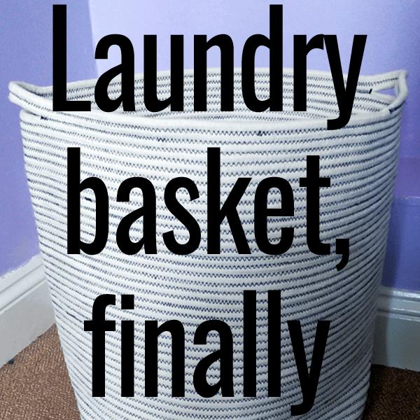 laundry basket finally