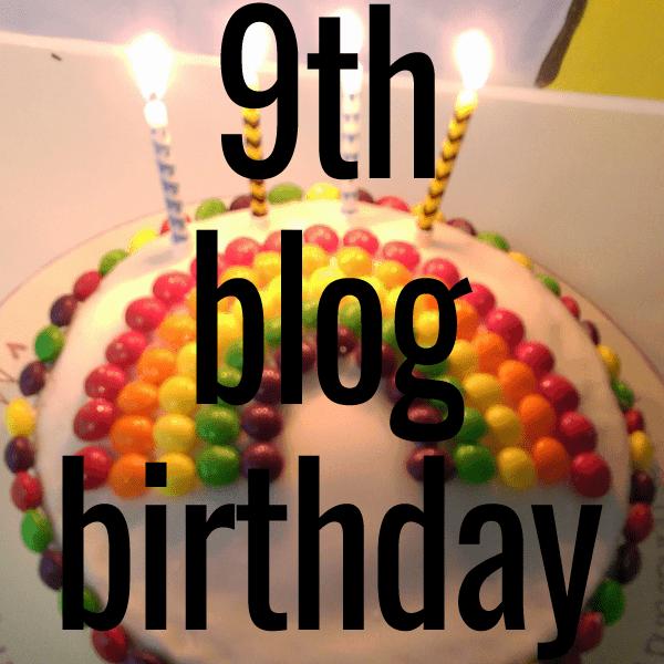 9th blog birthday