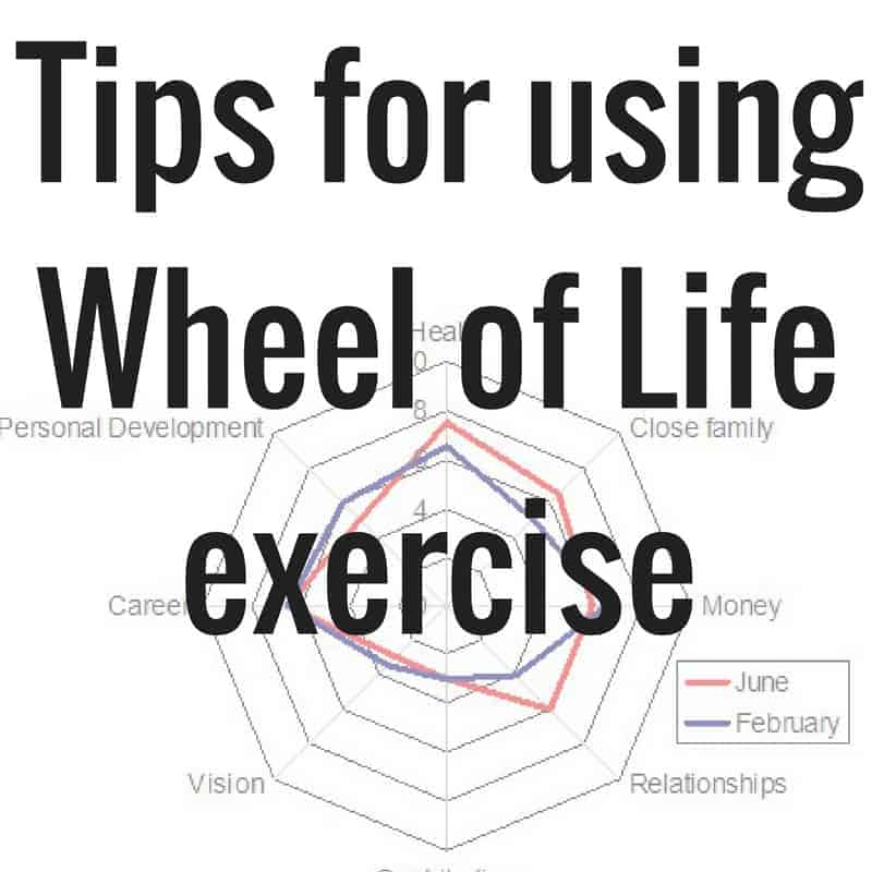 tips for using wheel of life exercise