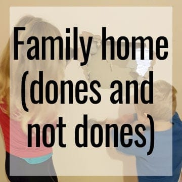 family home 4th anniversary dones and not dones