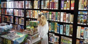 Choosing board games for kids to play at Thirsty Meepes